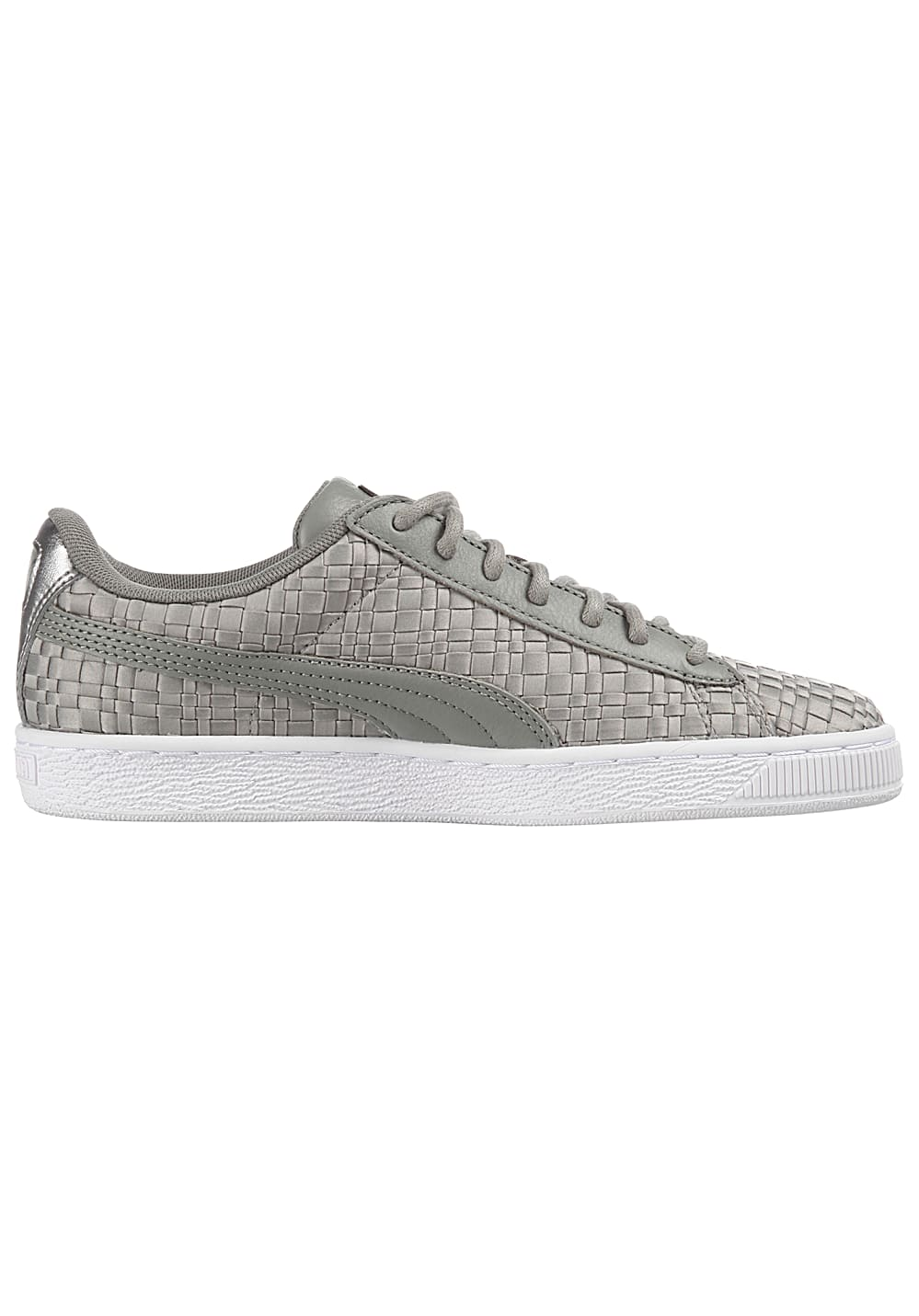 new style 7eaf6 f8599 Puma Basket Satin En Pointe - Sneakers for Women - Grey