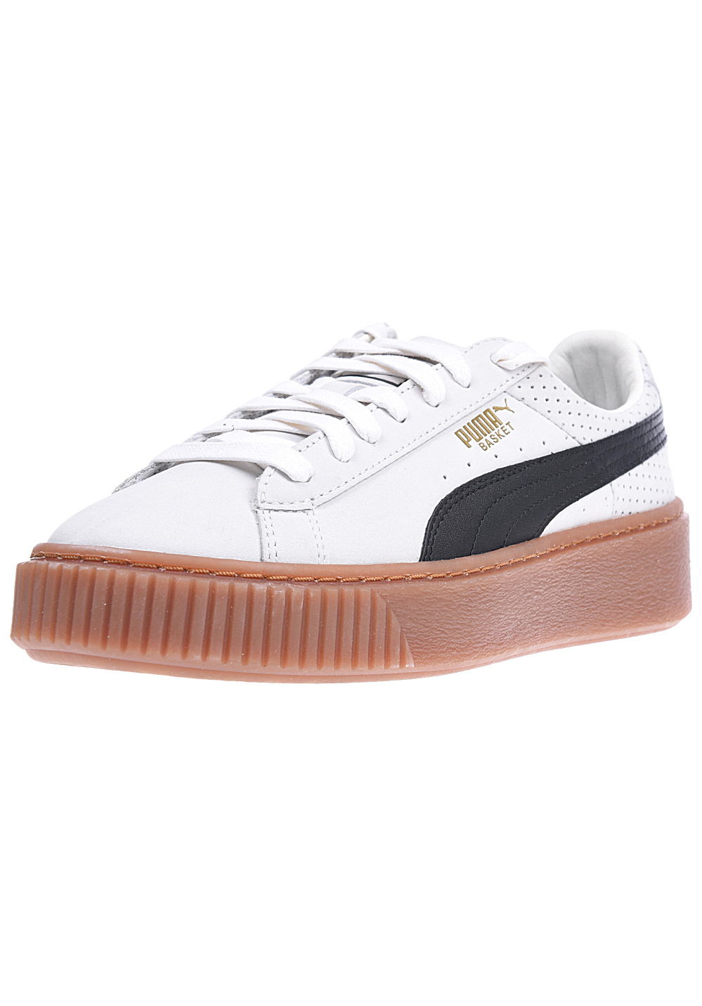 buy online 35560 406a9 Puma Basket Platform Perf Gum - Sneakers for Women - Beige