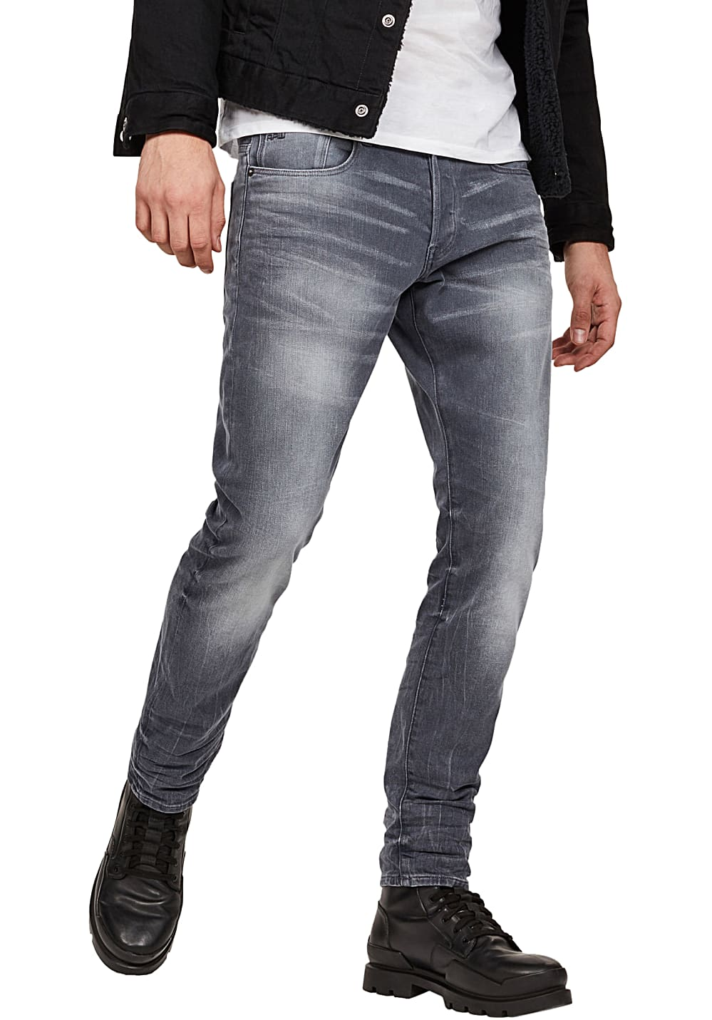 G STAR 3301 Tapered Kess Stretch Jean pour Homme Gris