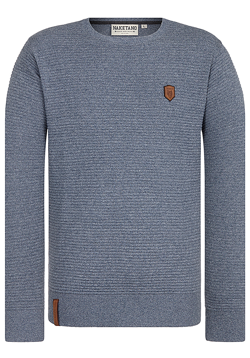 Men For Halls Naketano Pullover Knitted Walhalla Blue Of