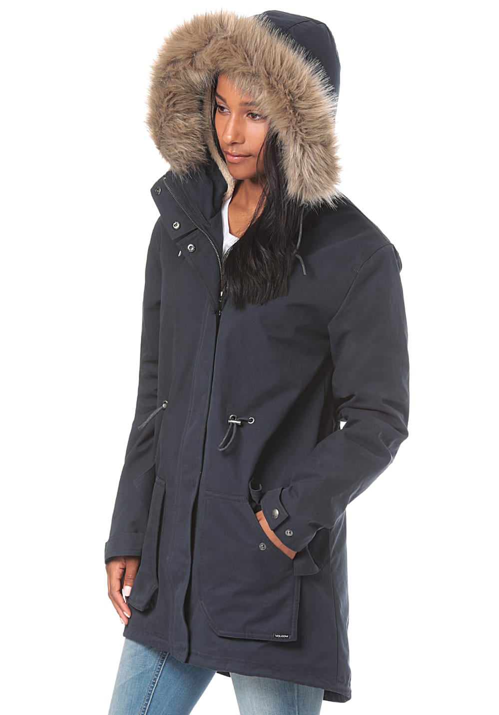 Is Taille Manteau More Women's Volcom Noir Parka L Less gn6FEwAz