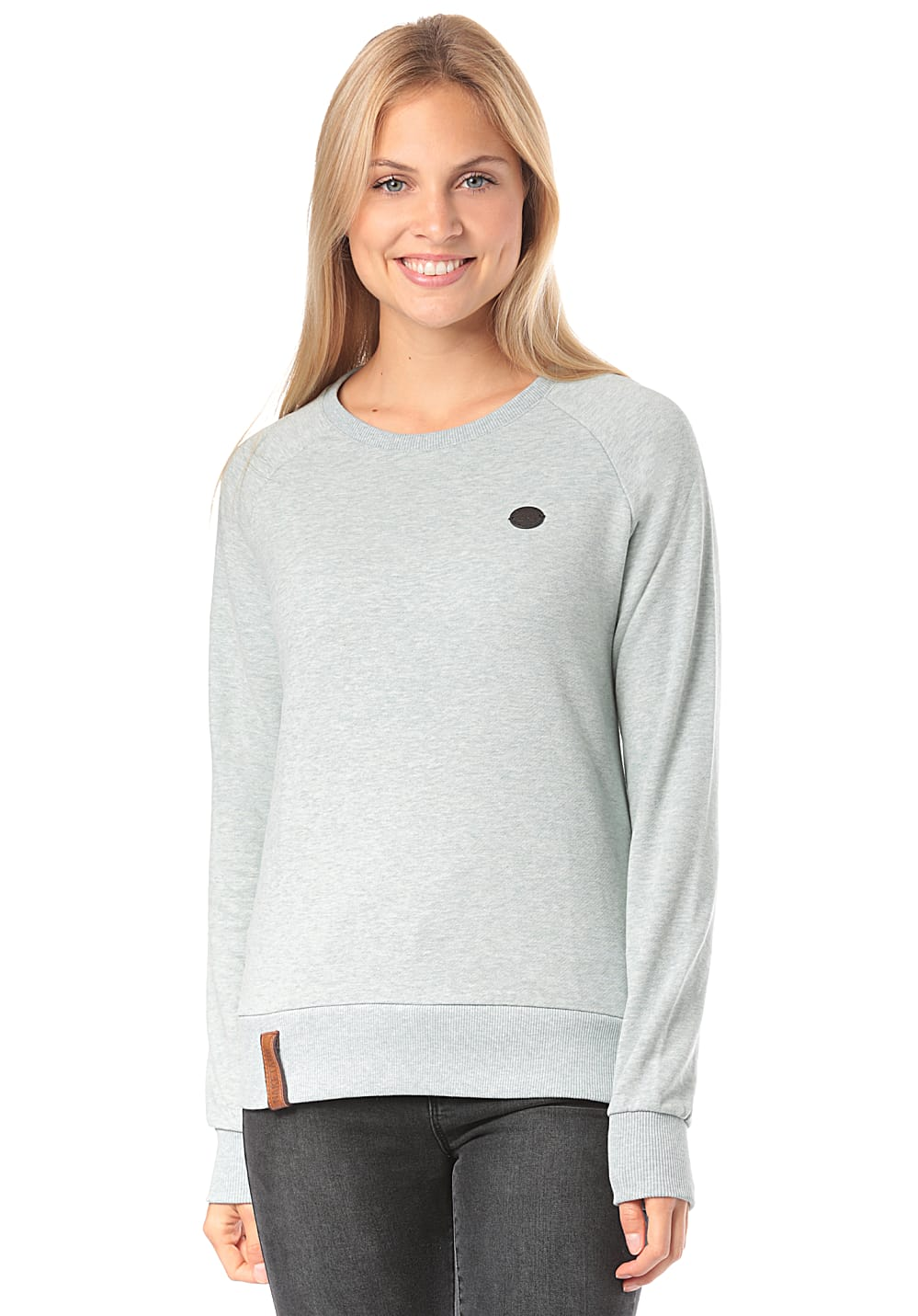 NAKETANO Fick Und Fotzi Sweatshirt for Women Grey