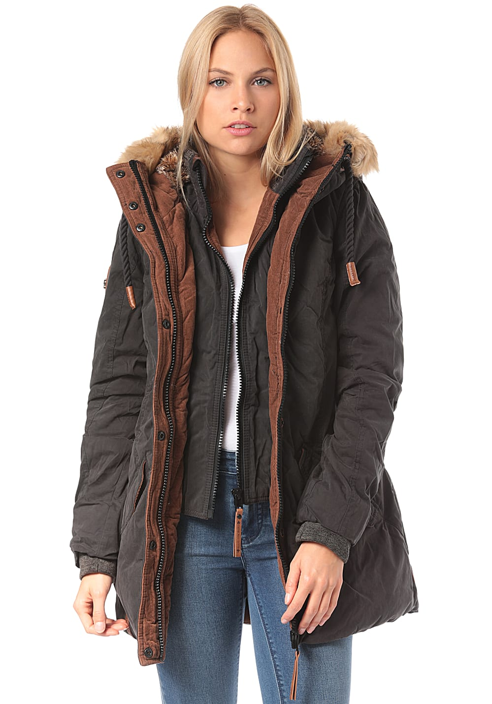 NAKETANO Kaktus Trifft Arschgeweih Jacket for Women Black