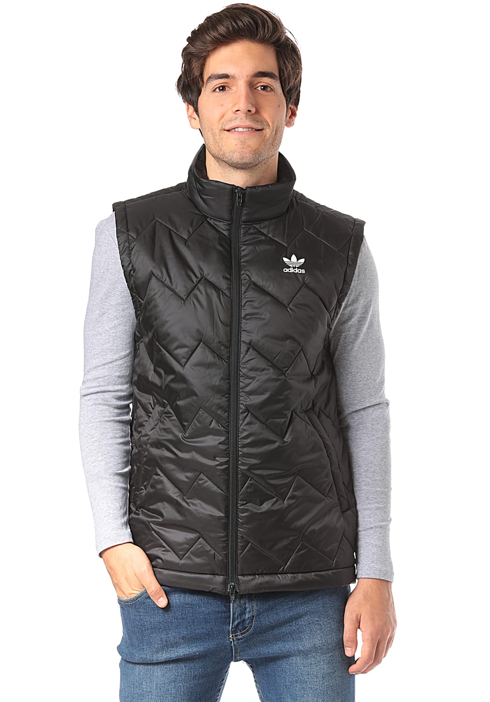 ADIDAS ORIGINALS SST Puffy Vest for Men Black Planet