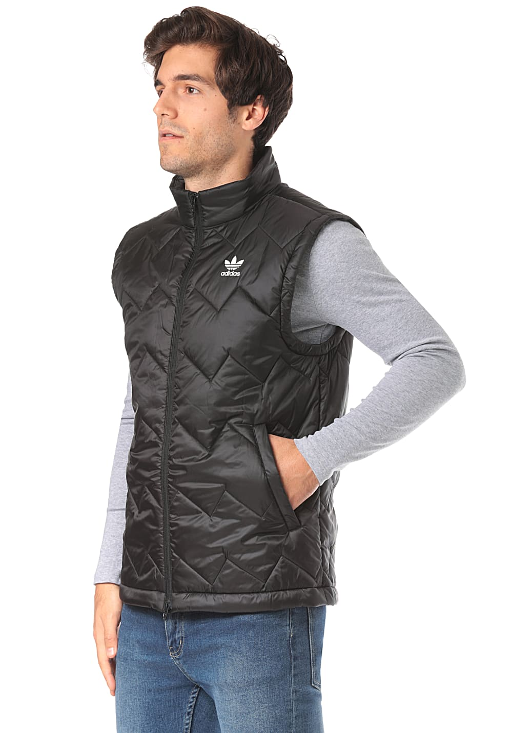 Buy adidas Originals Menms SST Puffy Vest in Black | Get The
