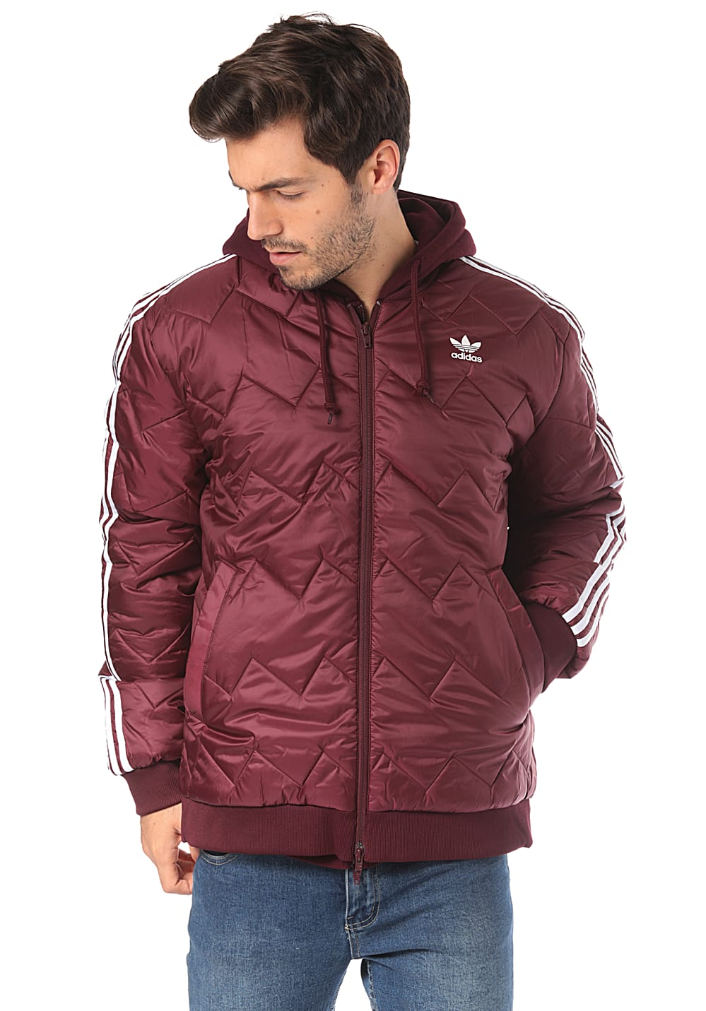 Per Giacca Planet Sst Originals Quilted Adidas Rosso Sports Uomo twCIS0Pq