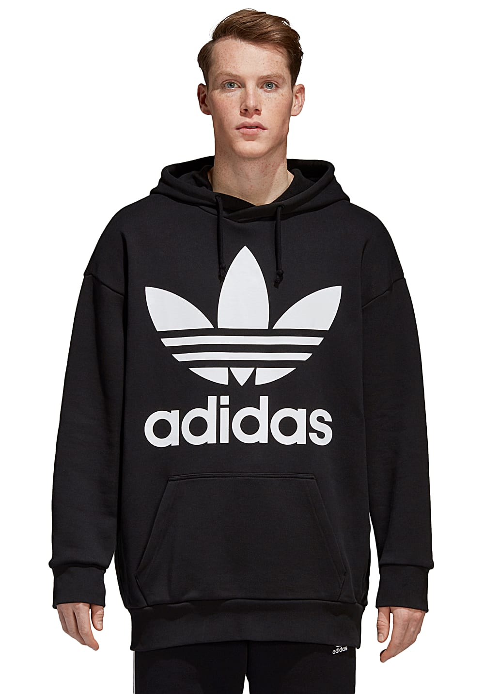 ADIDAS ORIGINALS Trefoil Over Hood Sweat à capuche pour Homme Noir
