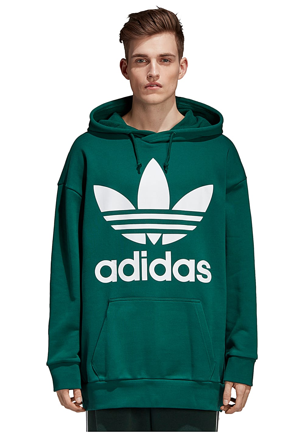 ADIDAS ORIGINALS Trefoil Over Hood Sweat à capuche pour Homme Vert