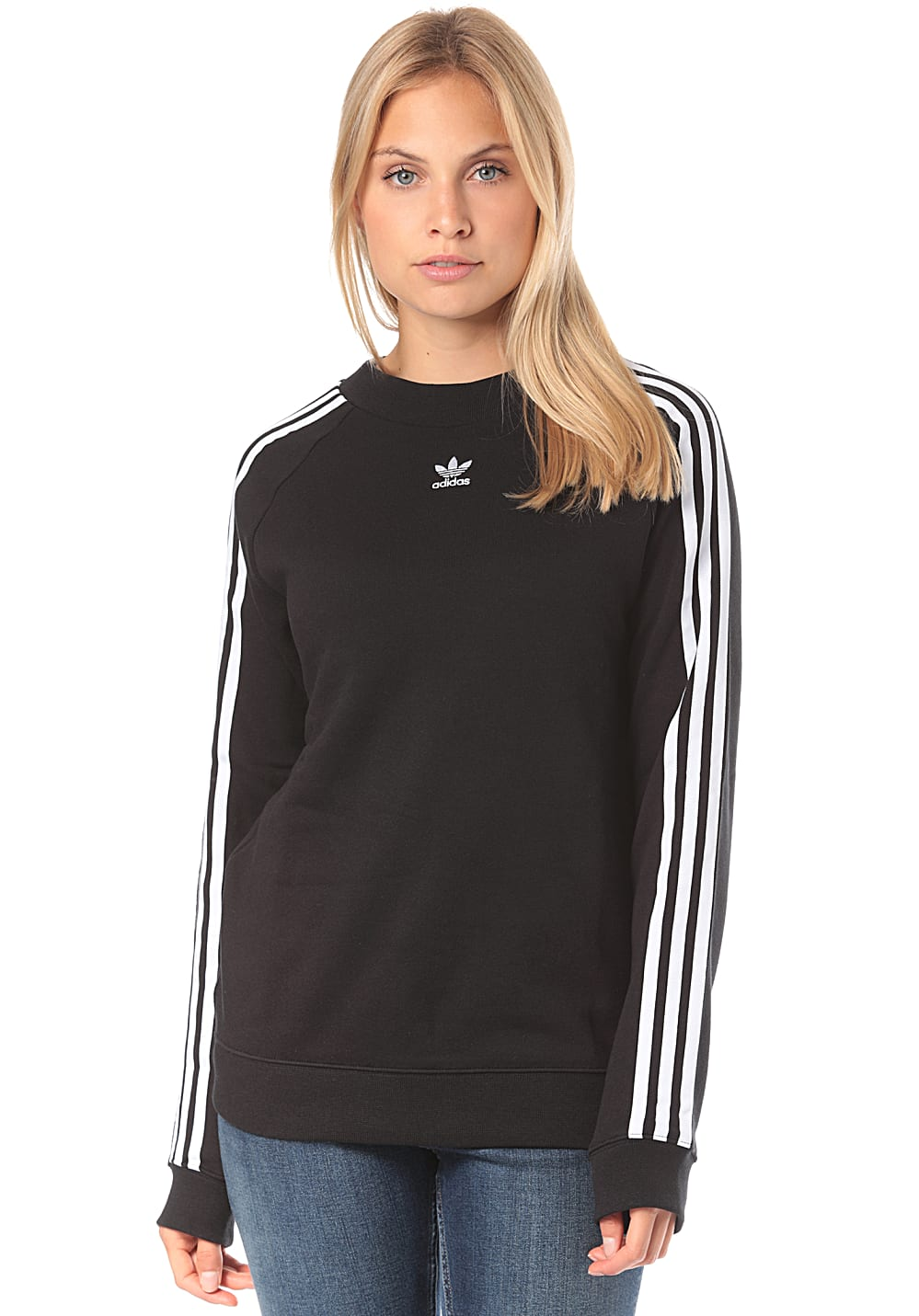 ADIDAS ORIGINALS Trefoil Crew Sweatshirt for Women Black