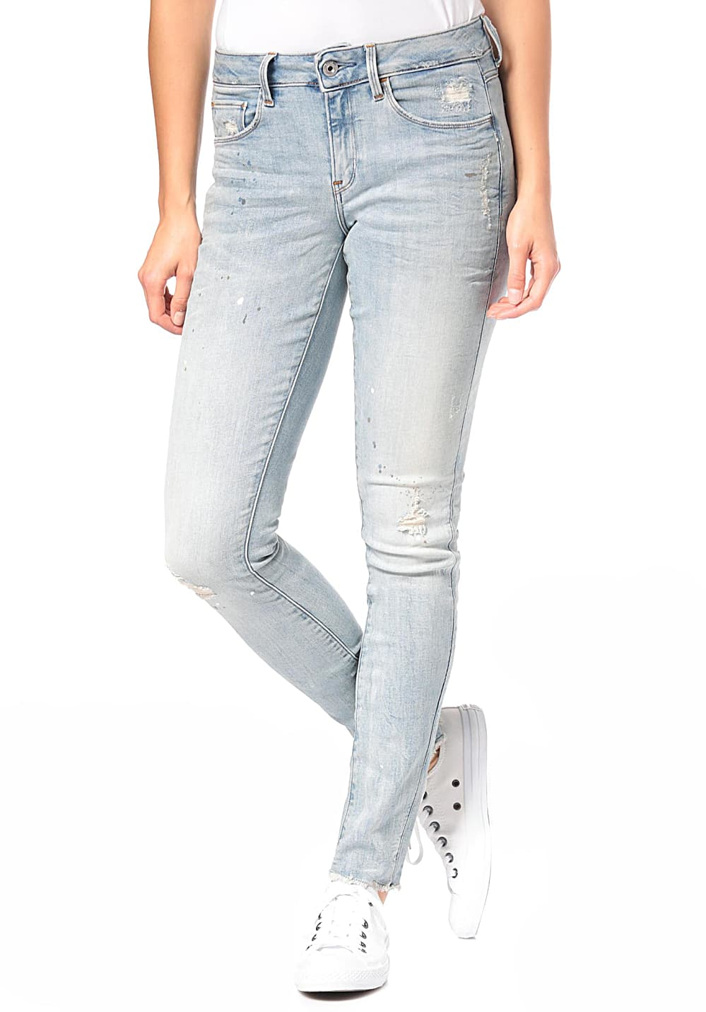 G STAR 3301 Deconstructed Mid Skinny Jean pour Femme