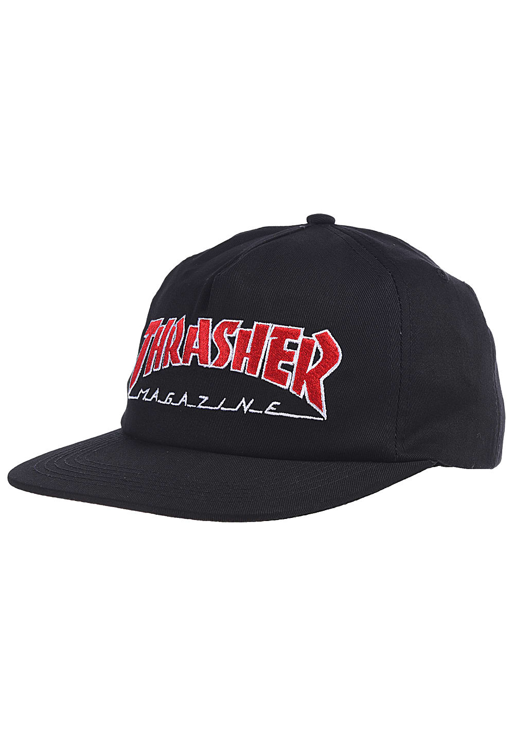 10121636386 THRASHER Outlined - Snapback Cap - Black - Planet Sports
