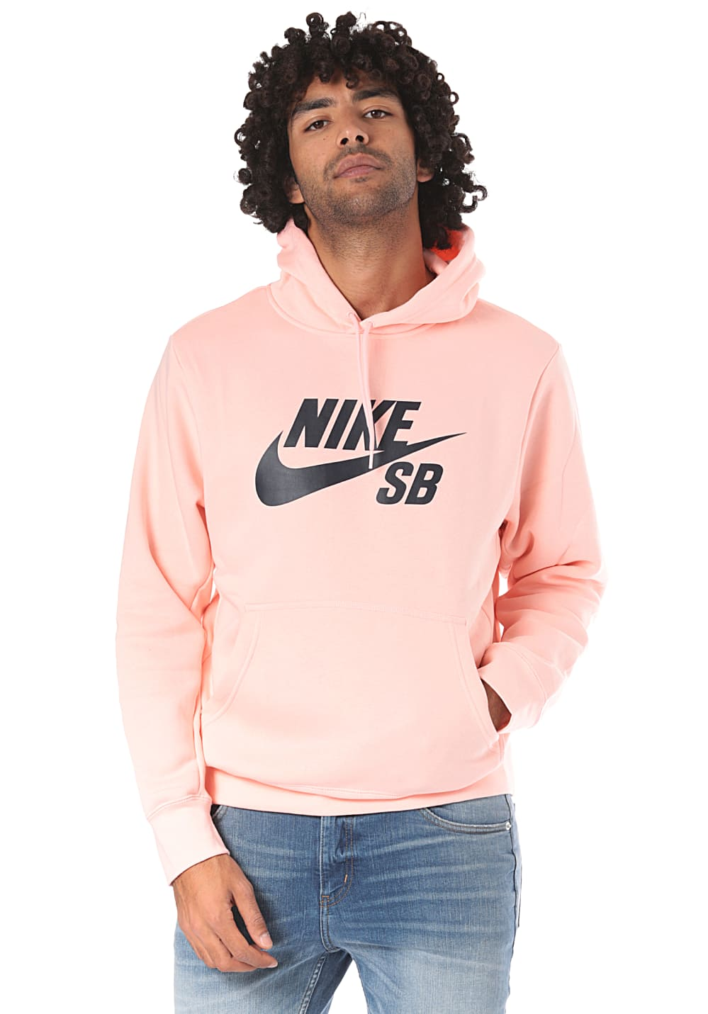 official shop delicate colors famous brand NIKE SB Icon Essentials - Hooded Sweatshirt for Men - Pink