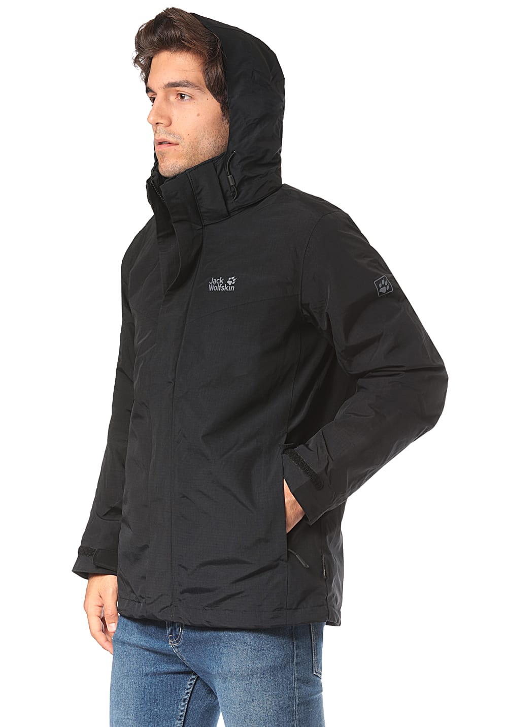 purchase cheap e0630 c5562 Jack Wolfskin Gotland 3In1 - Outdoor Jacket for Men - Black