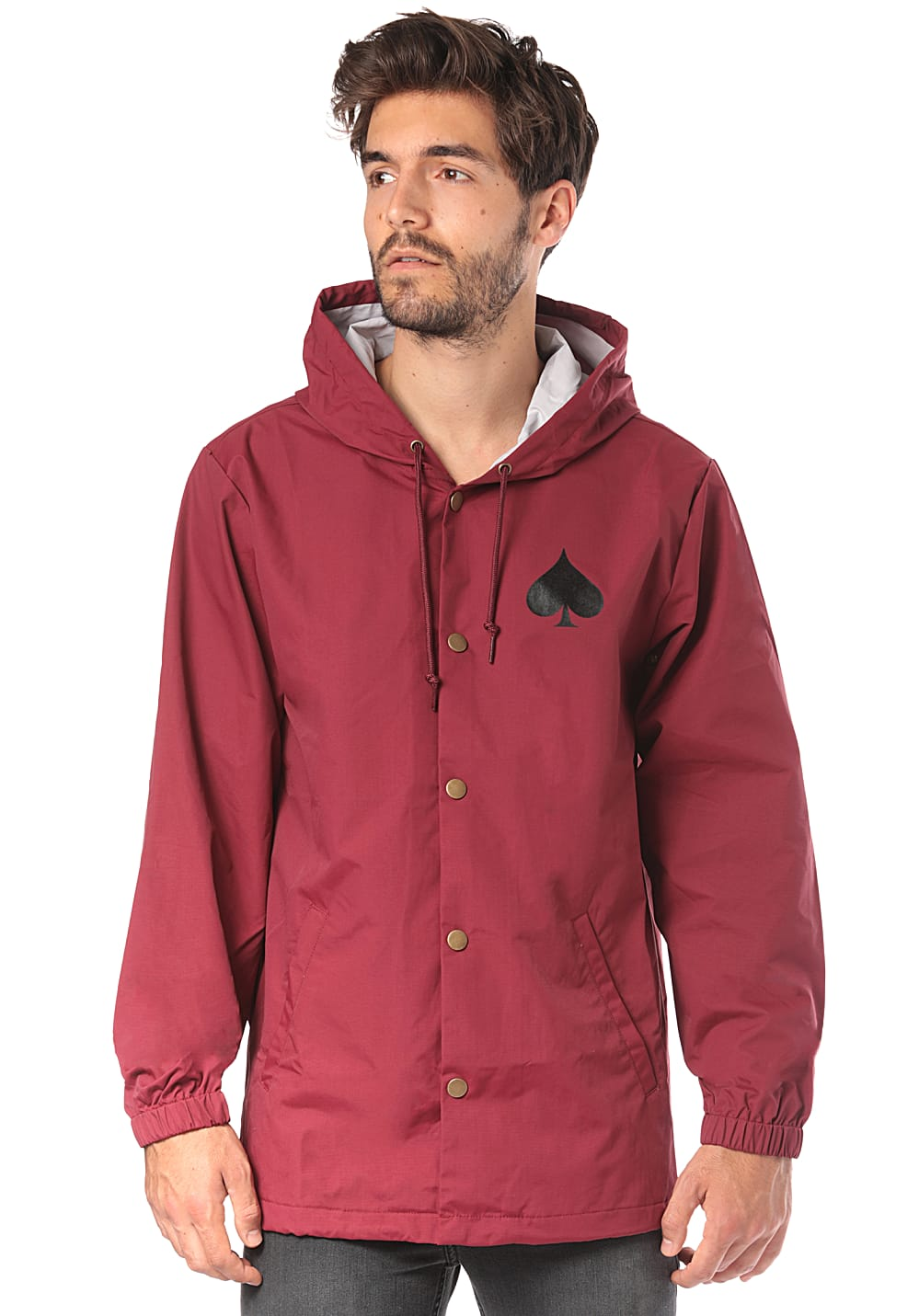 b0d20a9f2ec4 THRASHER New Oath Coach - Jacket for Men - Red - Planet Sports