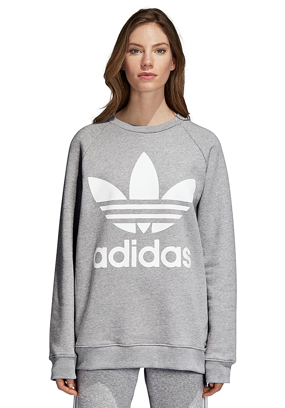 8020657d ADIDAS ORIGINALS Oversized - Sweatshirt for Women - Grey - Planet Sports