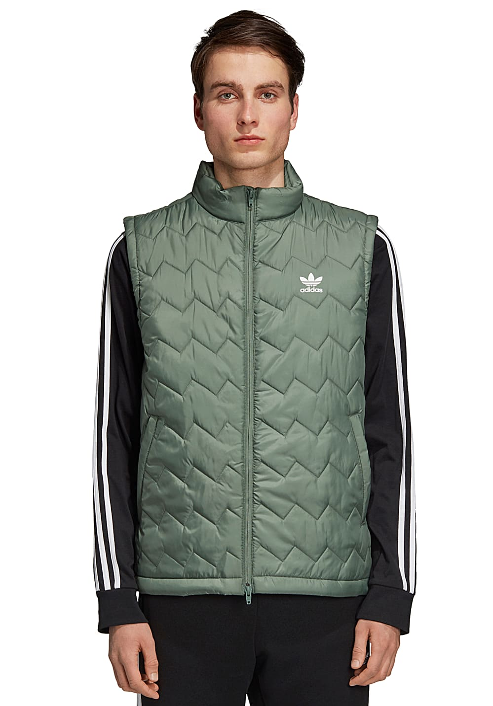 ADIDAS ORIGINALS SST Puffy Vest for Men Green