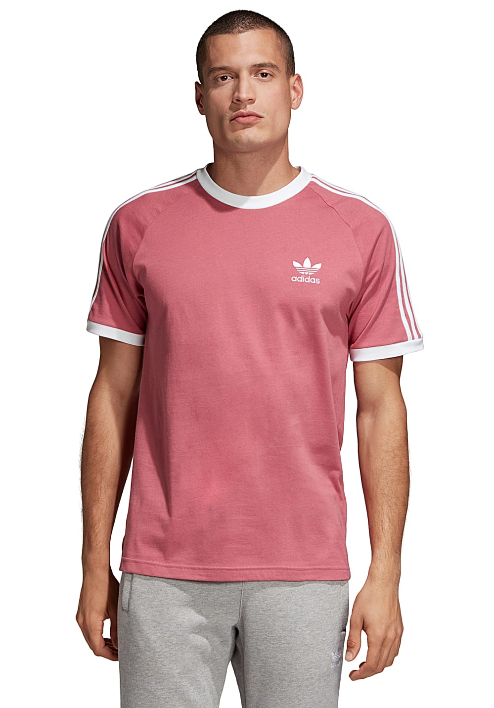 ADIDAS ORIGINALS 3-Stripes - T-shirt voor Heren - Rood