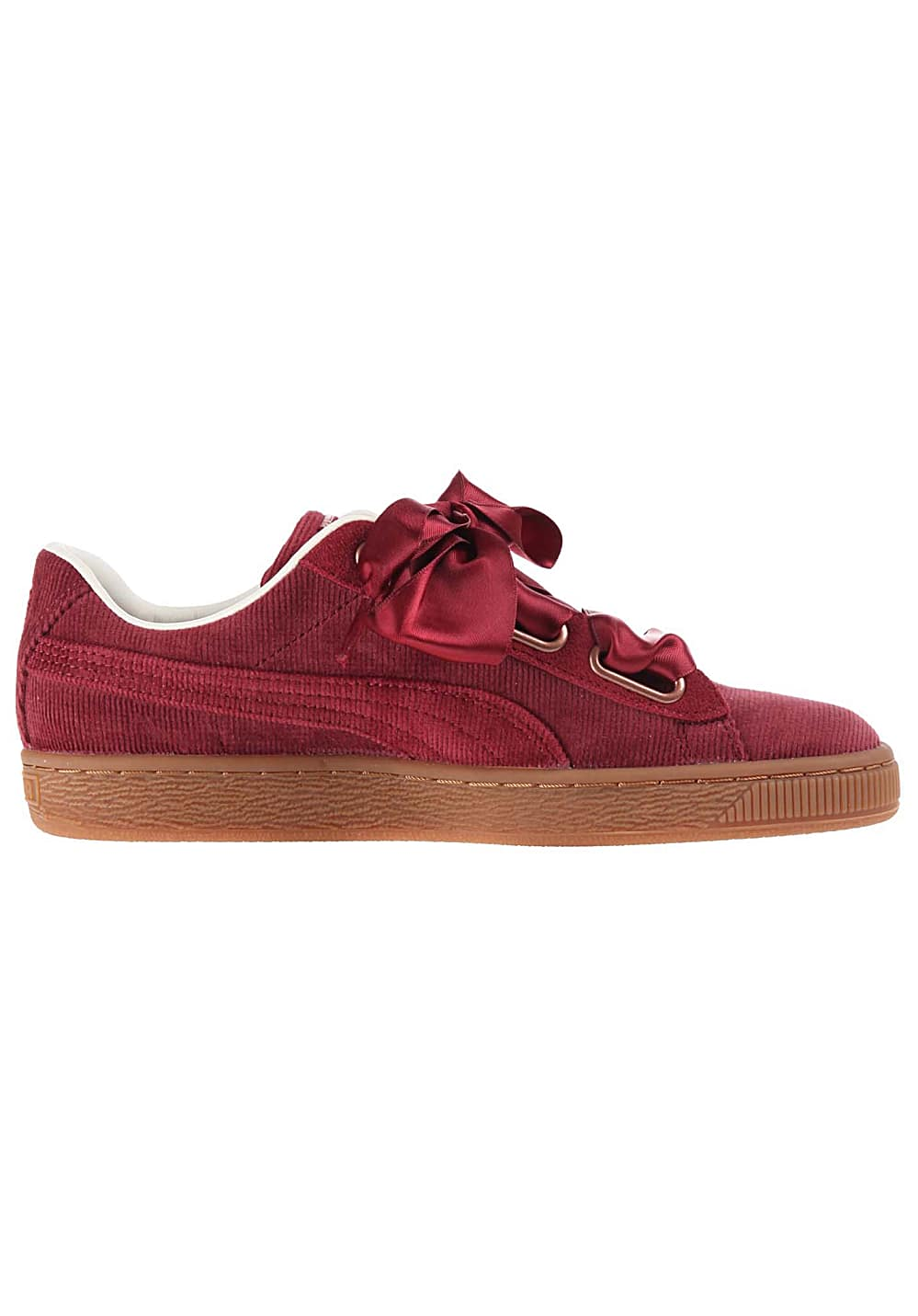 san francisco a8f91 3921b Puma Basket Heart Corduroy - Sneakers for Women - Red
