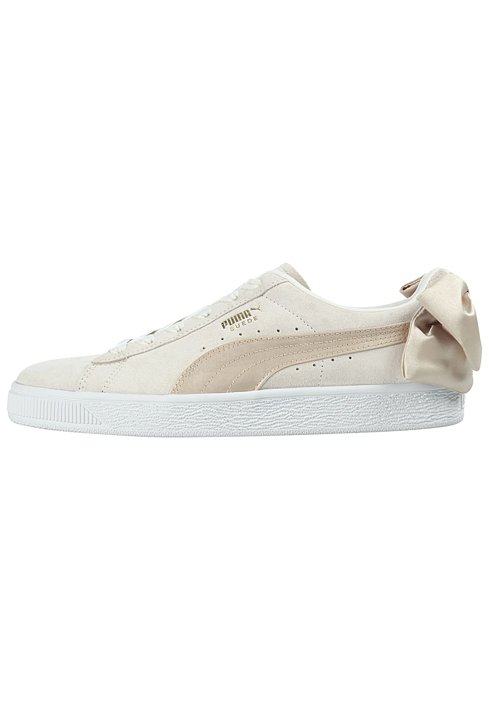 Planet For Sneakers Bow Stqwoydt Sports Women Puma Beige Suede Varsity PZuTkXOi