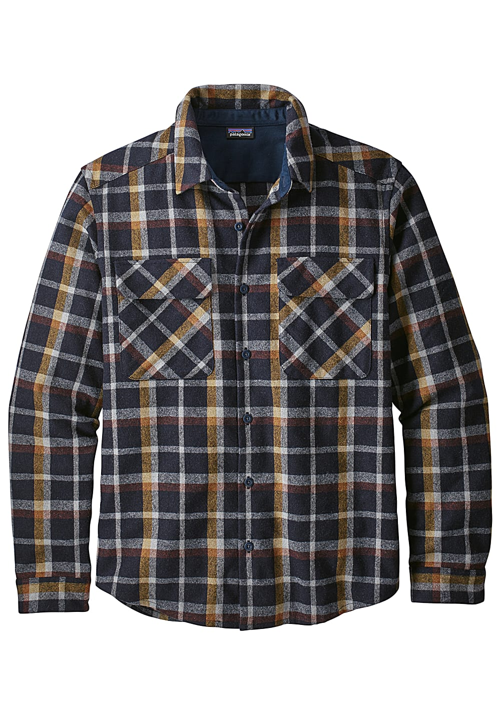 f75b9f27c PATAGONIA L/S Recycled Wool - Shirt for Men - Blue