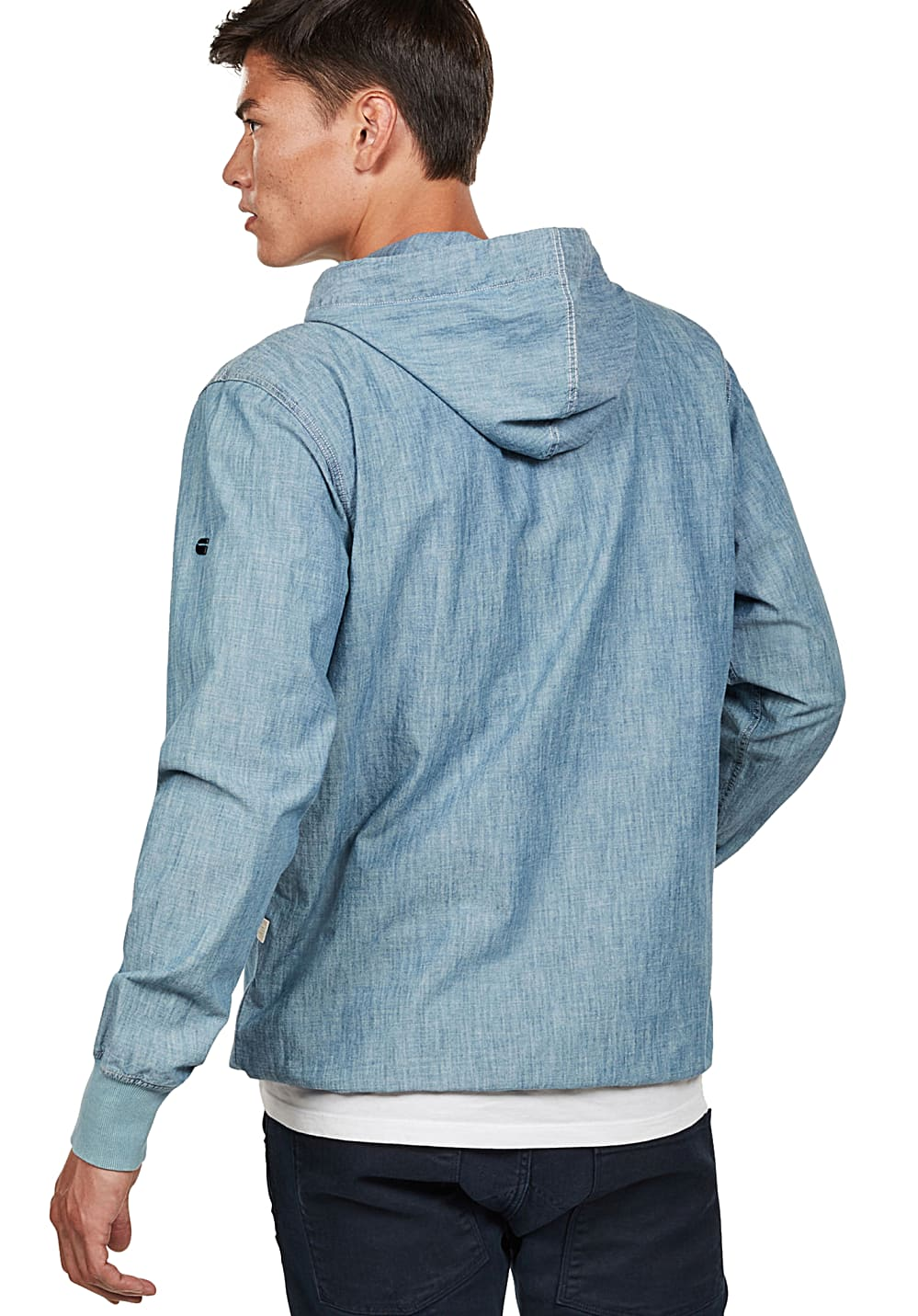 9c96e67a764 ... G-STAR Woveneat - Hooded Sweatshirt for Men - Blue. Back to Overview.  1; 2. Previous