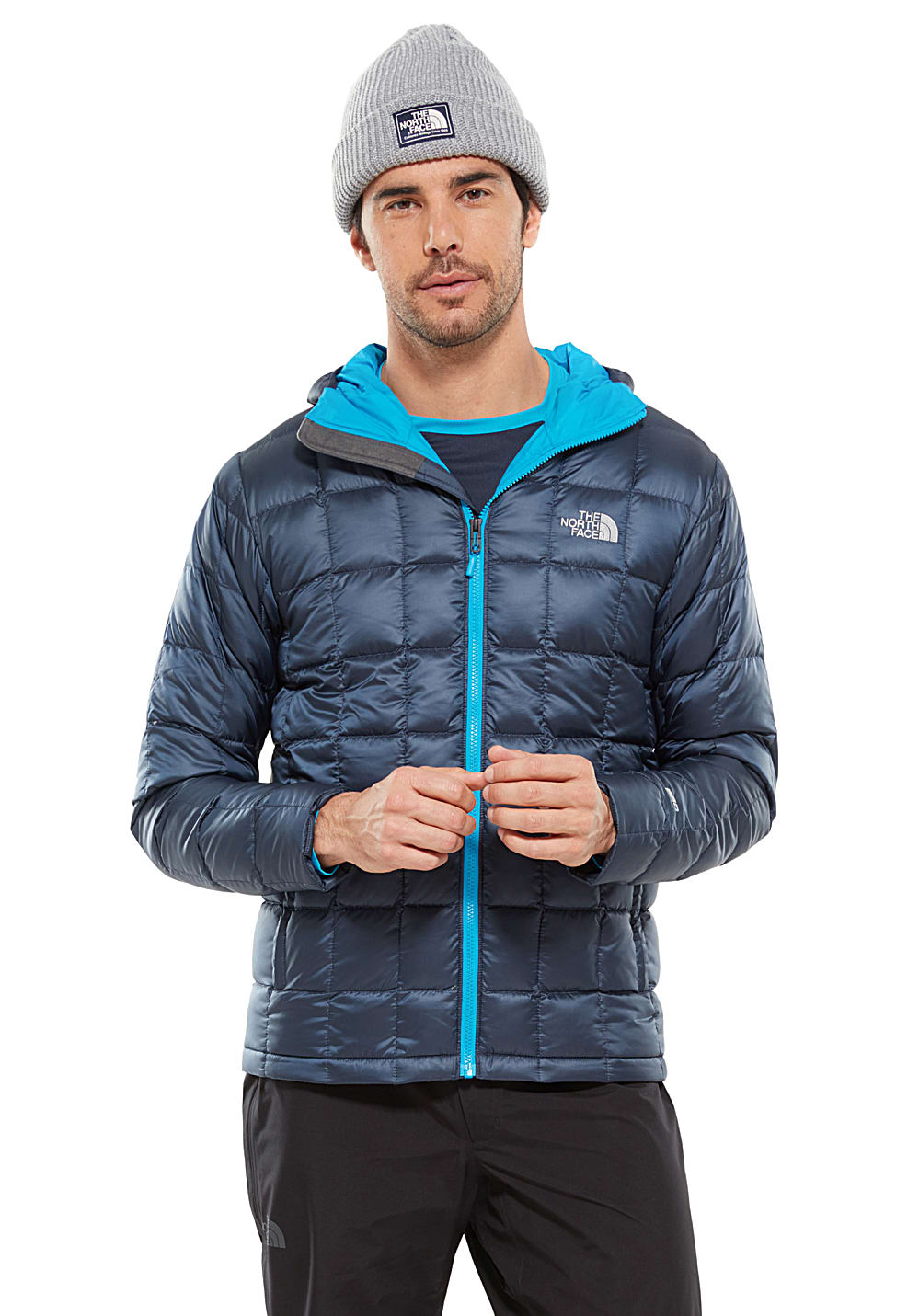 a209e528d THE NORTH FACE Kabru Hooded Down - Outdoor Jacket for Men - Blue