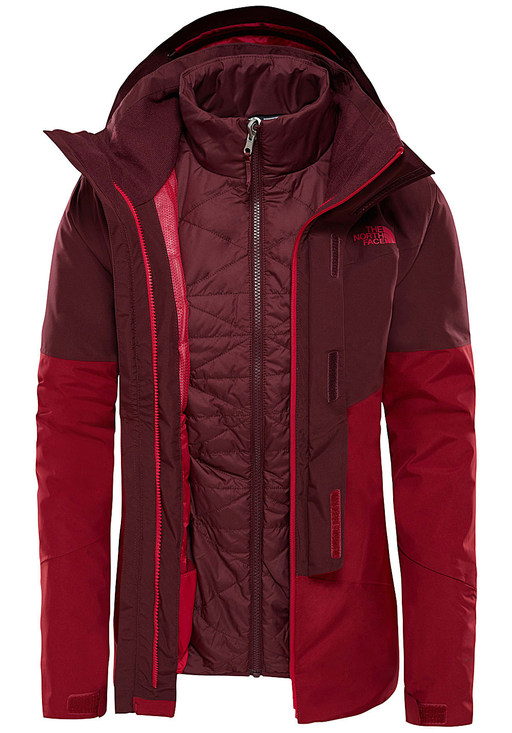 6e81505aa THE NORTH FACE Garner Triclimate - Outdoor Jacket for Women - Red