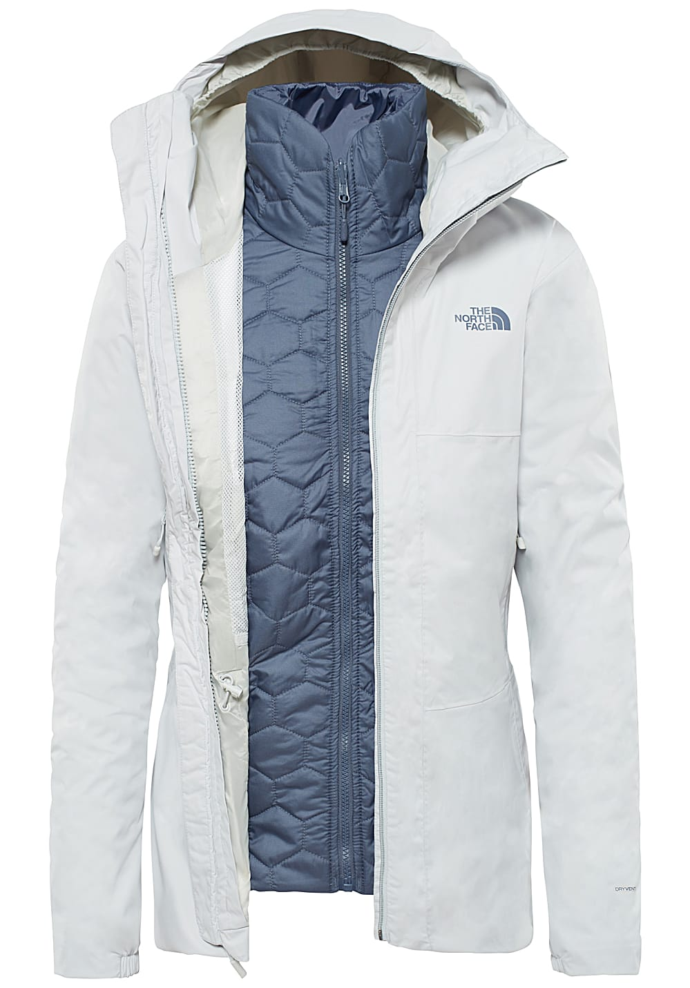 377790eac THE NORTH FACE Hikesteller Triclimate - Outdoor Jacket for Women - Grey