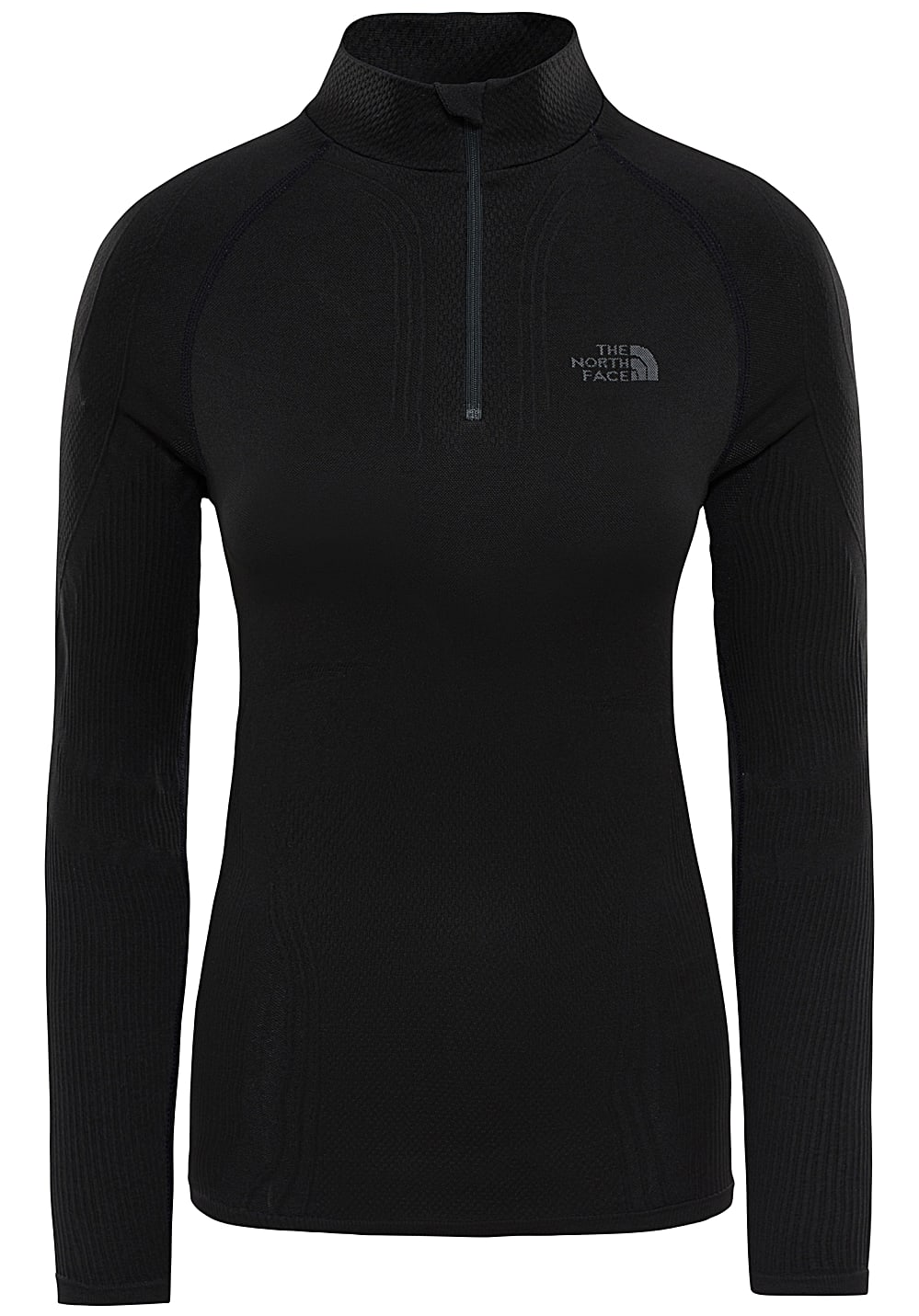 dde41591d THE NORTH FACE Hybrid Zip Neck - Thermal Underwear for Women - Black