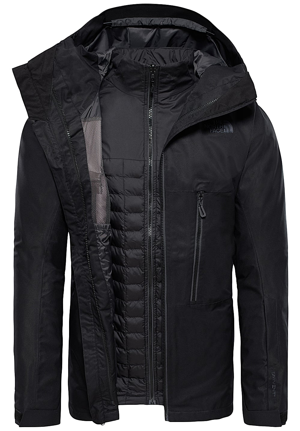 3e2a40f86 THE NORTH FACE Thermoball Snow Triclimate - Ski Jacket for Men - Black
