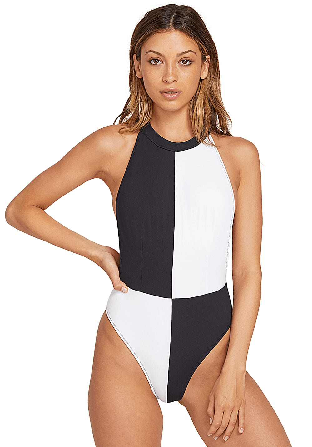 ebfe1430805d2 ... Volcom Simply Rib - One-piece Swimsuit for Women - Black. Back to  Overview. 1; 2. Previous
