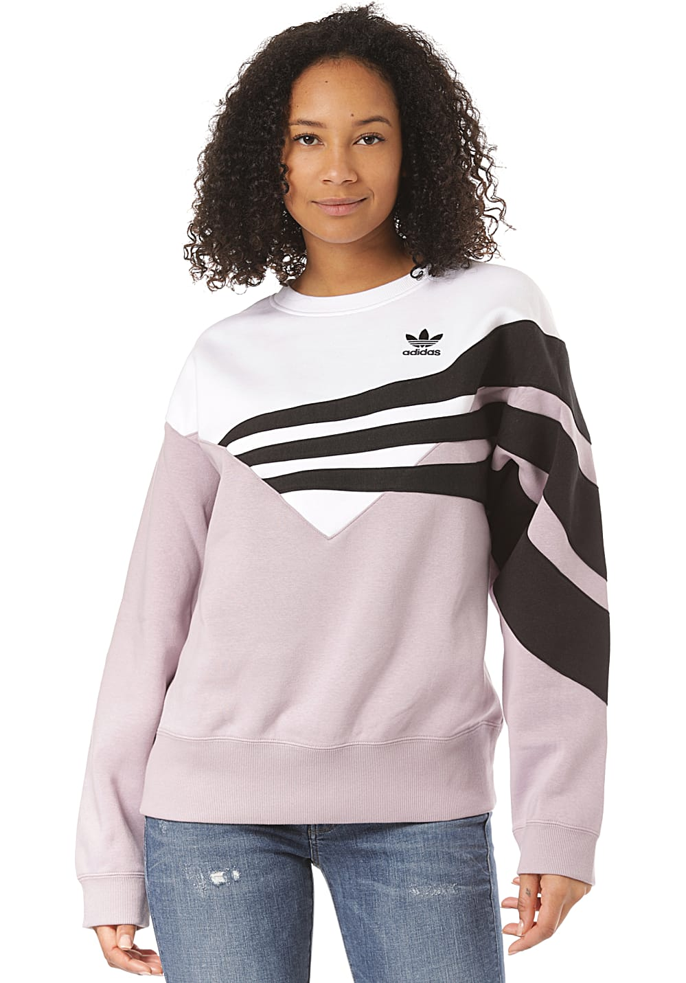 ADIDAS ORIGINALS Sweater Sweatshirt voor Dames Paars