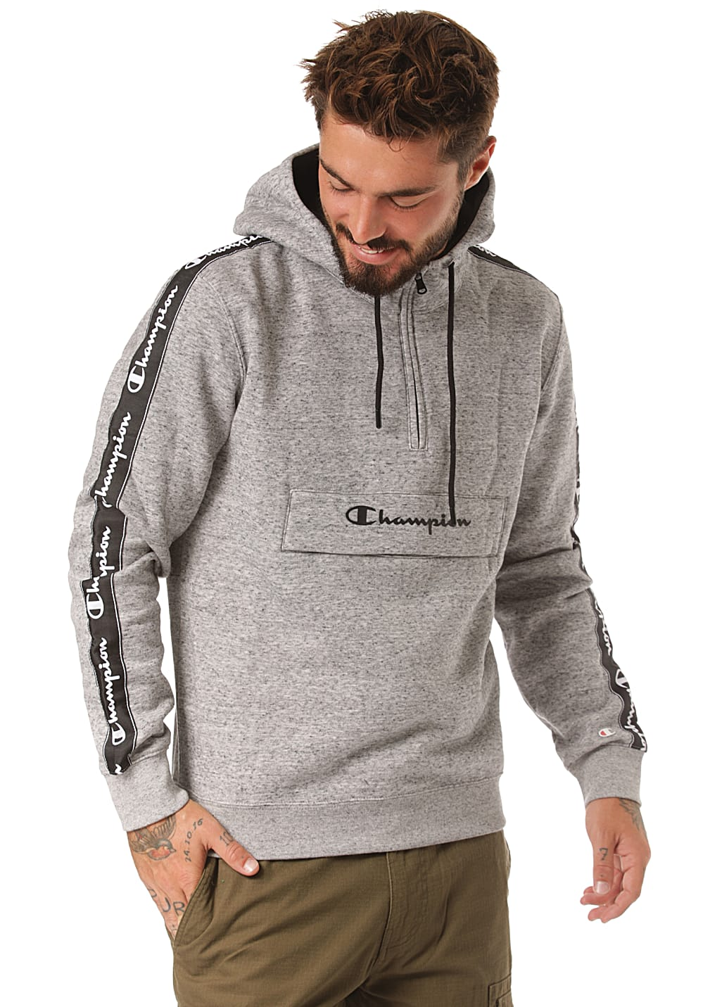 united kingdom classic shoes the best attitude Champion ATA American Tape - Hooded Sweatshirt for Men - Grey