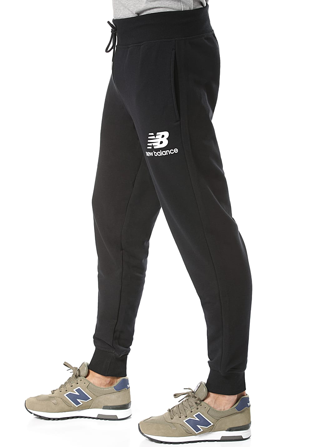 254fdfc3 NEW BALANCE MP91550 - Trackpants for Men - Black