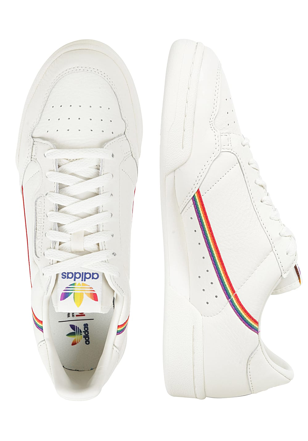ADIDAS ORIGINALS Continental 80 Pride Sneakers for Men White