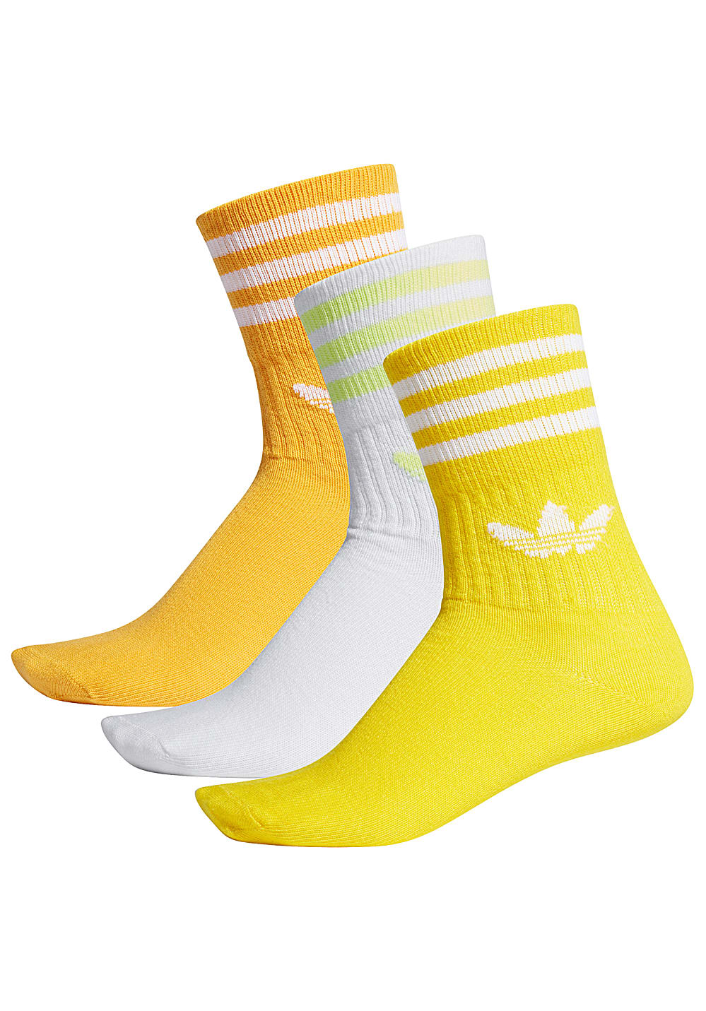 ADIDAS ORIGINALS Mid Cut Crew - Socks - Yellow - Planet Sports