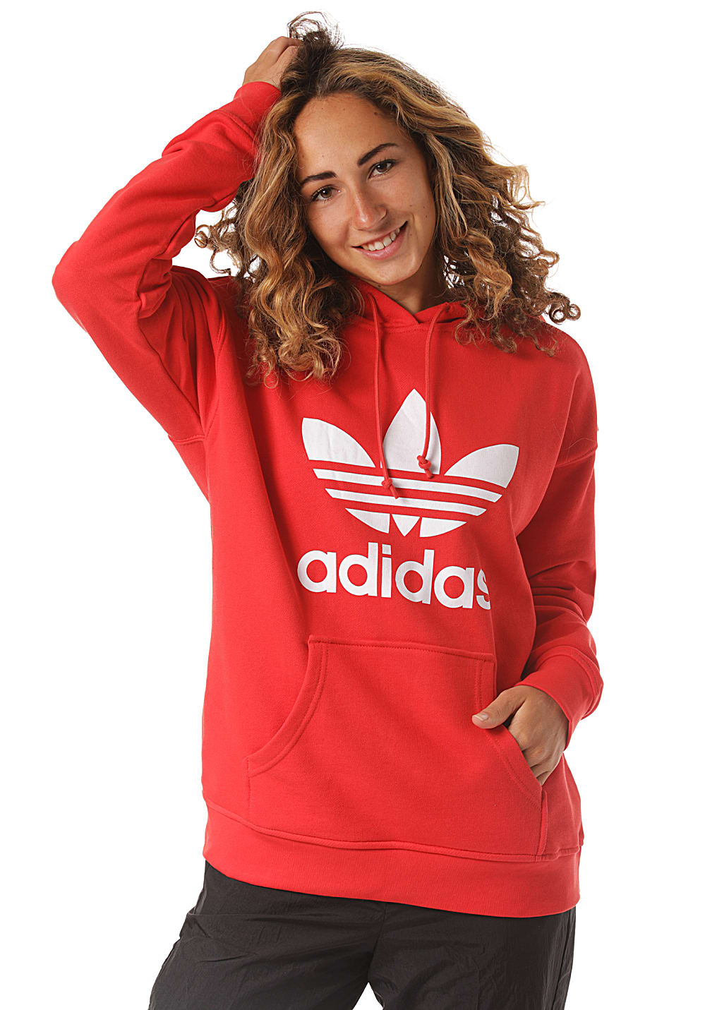 adidas past long sweat à capuche pour femme vert